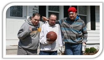 Ron, Michael, & Dennie on their way to play basketball close to their new home in Western IL.