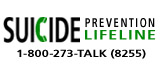 Suicude Prevention Lifeline 1-800-273-8255