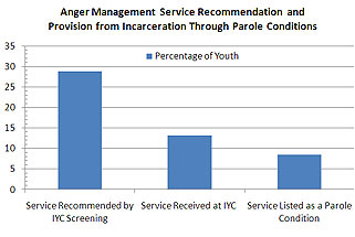 Anger Management Service Recommendation and Provisions Column Chart