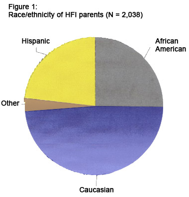 Pie Chart showing percents of HFI participants By Race and Ethnicity