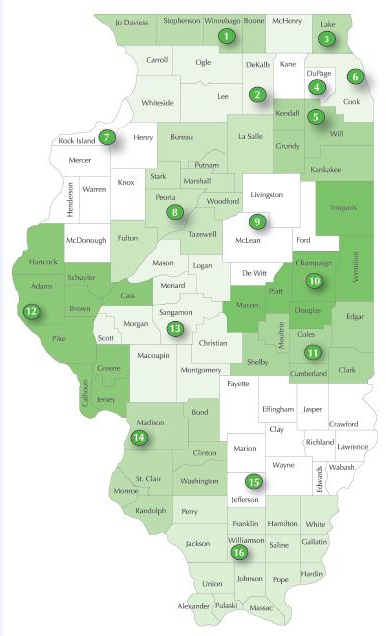 Apendix A Illinois Child Care Resource and Referral Service Delivery Areas