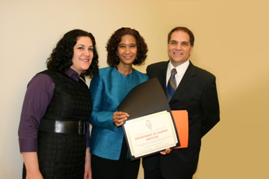 Anna D'Ascenzo, Secretary Michelle R.B. Saddler & IDHR Director Rocco J. Claps