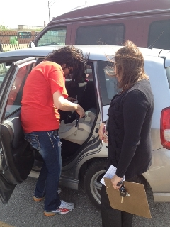 More than 60 car seats were distributed to parents during a car-seat inspection