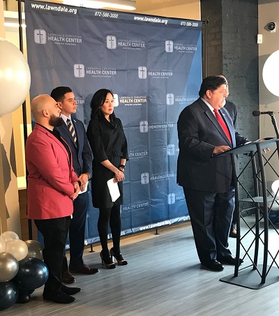 Governor JB Pritzker announces a new, one-of-a-kind partnership in Lawndale.