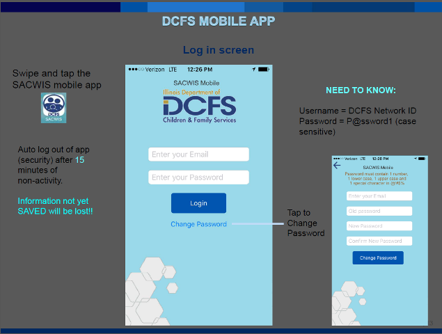 DCFS Mobile Application