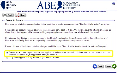 image regarding Printable Medicaid Application titled IDHS: Marketing consultant towards Finishing an ABE Computer software