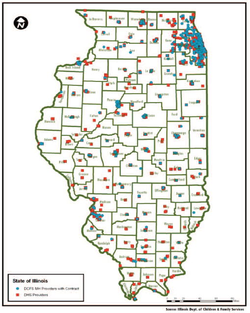 Idhs Illinois Taskforce On The Condition Of African American Males - Illinois-on-a-map-of-the-us