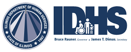 IDHS Seal and IDHS Logo