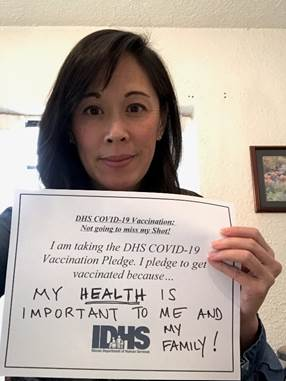 Secretary Hou - Taking the IDHS Pledge to get Vaccinated